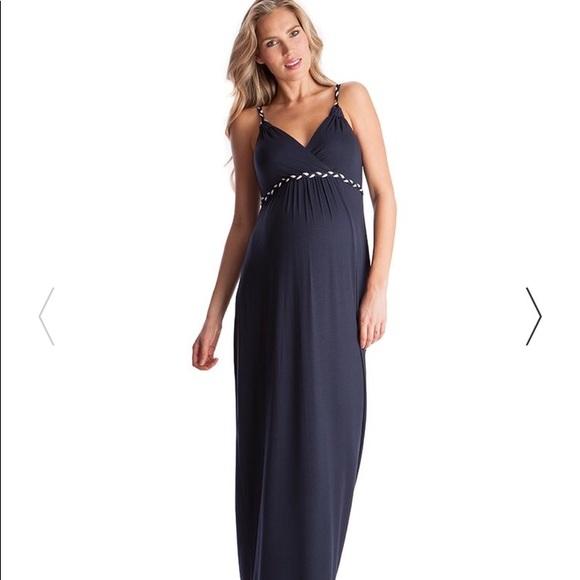 d9f3c2816e Seraphine Navy Blue Maxi Maternity Dress Size 6. M 5adcf79b5521be2d1f8f2c96